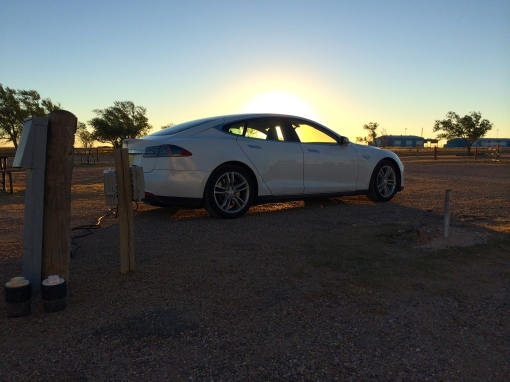Amarillo Tesla Sunrise